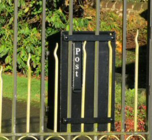 letter boxes for fences and railings