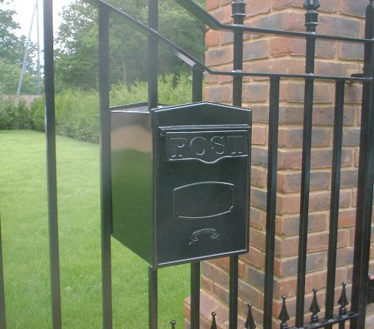Post Boxes For Fixing Into Railings And Gates With Rear