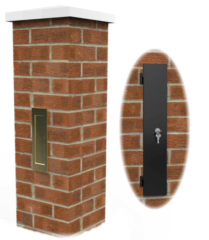 Rear Access Letter Box.Letter Box Mde In The Uk To Build Into A 1 5 Brick Pier
