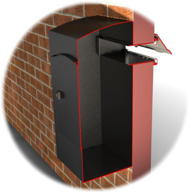 ryder large capacity letter box for mounting behind a With letter collection box